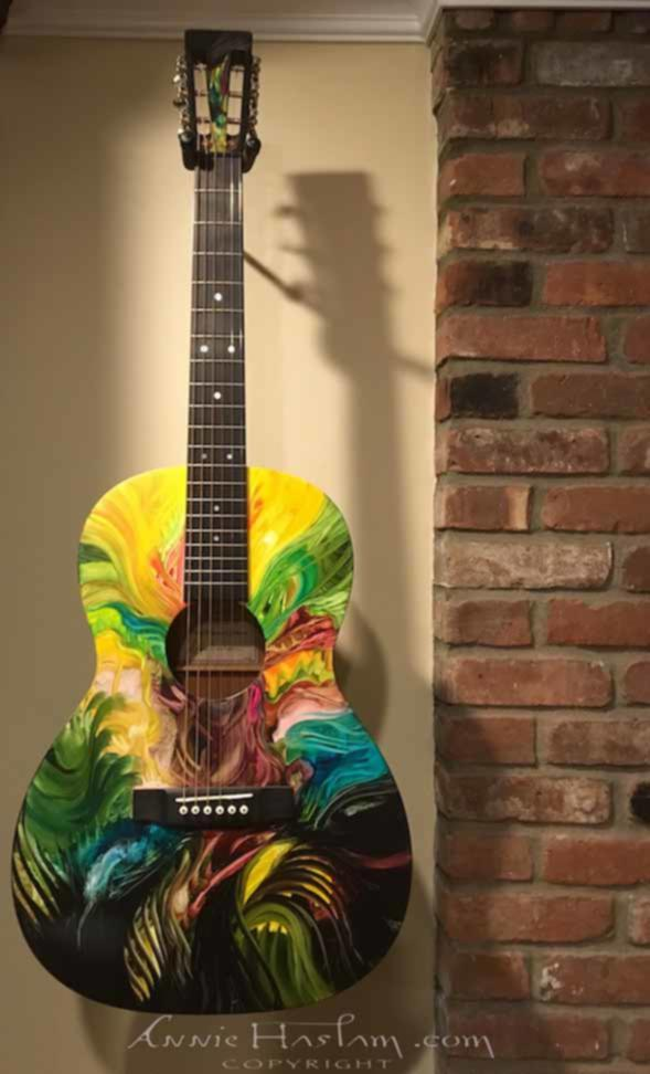 'This Glorious Earth' hand-painted Martin Art Guitar