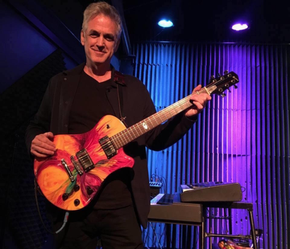 'The 'Lyrist' jazz guitar created by Bill Comins featured here courtesy of Bob Miles and played on the Renaissance Fall Tour 2016 by Mark Lambert